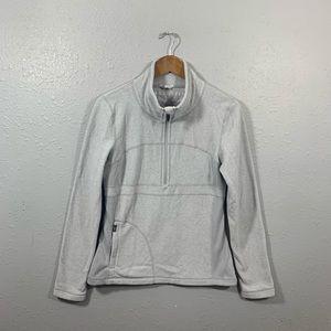 Prana Gray Fleece Half Zip Jacket Size Medium